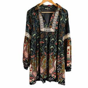 Entro Victoria Floral Paisley Tunic Dress